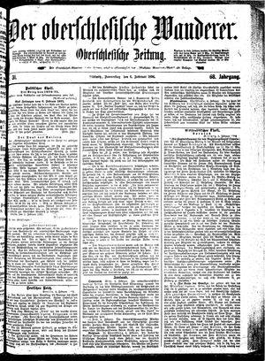 ˜Derœ Oberschlesische Wanderer vom 06.02.1896