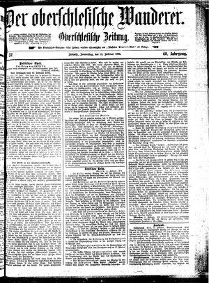 ˜Derœ Oberschlesische Wanderer vom 13.02.1896