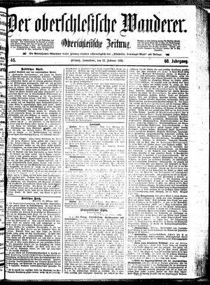 ˜Derœ Oberschlesische Wanderer vom 22.02.1896