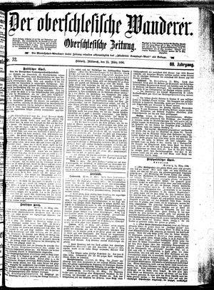 ˜Derœ Oberschlesische Wanderer vom 25.03.1896