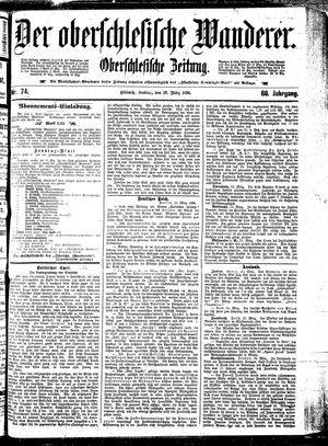 ˜Derœ Oberschlesische Wanderer vom 27.03.1896