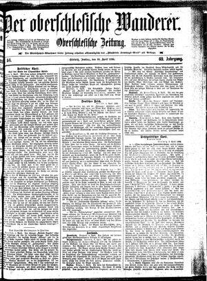 ˜Derœ Oberschlesische Wanderer vom 10.04.1896