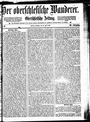 ˜Derœ Oberschlesische Wanderer vom 14.04.1896