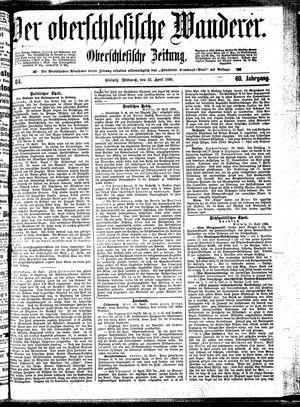 ˜Derœ Oberschlesische Wanderer vom 22.04.1896