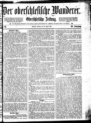 ˜Derœ Oberschlesische Wanderer vom 24.04.1896