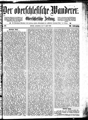 ˜Derœ Oberschlesische Wanderer vom 25.04.1896