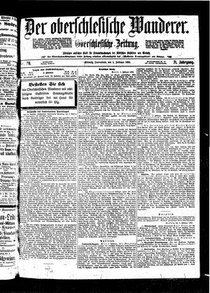 ˜Derœ Oberschlesische Wanderer vom 05.02.1898