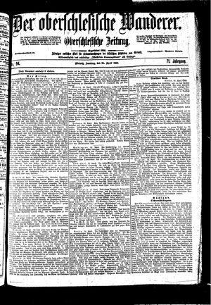 ˜Derœ Oberschlesische Wanderer vom 24.04.1898