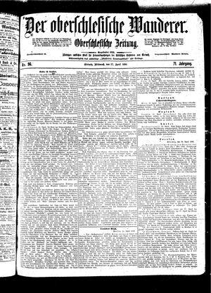 ˜Derœ Oberschlesische Wanderer vom 27.04.1898