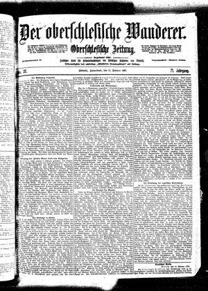 ˜Derœ Oberschlesische Wanderer vom 11.02.1899