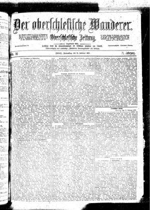 ˜Derœ Oberschlesische Wanderer vom 16.02.1899