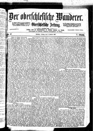 ˜Derœ Oberschlesische Wanderer vom 17.02.1899