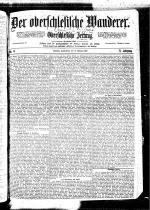 ˜Derœ Oberschlesische Wanderer vom 18.02.1899