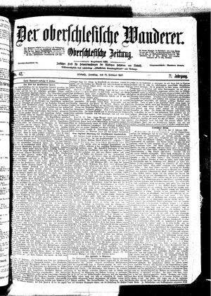 ˜Derœ Oberschlesische Wanderer vom 19.02.1899