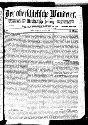 ˜Derœ Oberschlesische Wanderer vom 24.02.1899