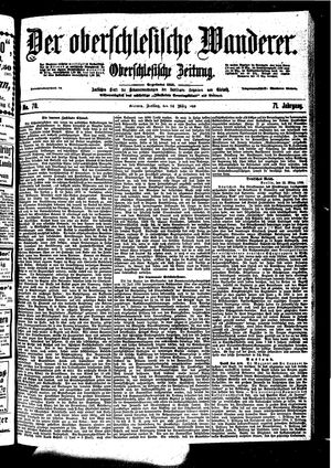 ˜Derœ Oberschlesische Wanderer vom 24.03.1899