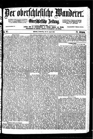 ˜Derœ Oberschlesische Wanderer vom 27.04.1899