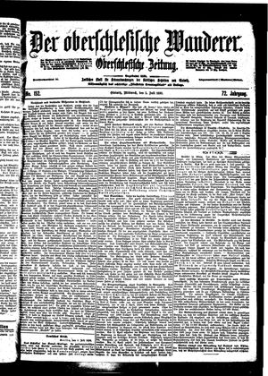 ˜Derœ Oberschlesische Wanderer vom 05.07.1899