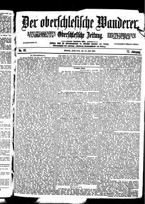 ˜Derœ Oberschlesische Wanderer vom 15.07.1899