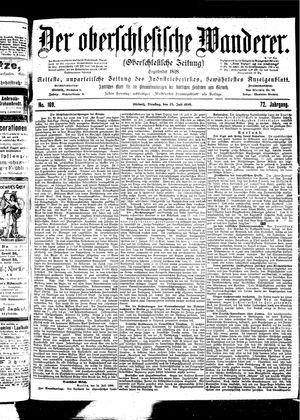 ˜Derœ Oberschlesische Wanderer vom 25.07.1899