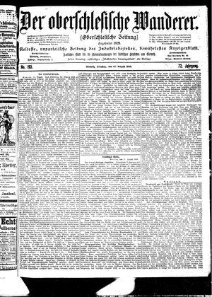 ˜Derœ Oberschlesische Wanderer vom 22.08.1899