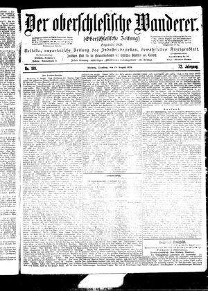 ˜Derœ Oberschlesische Wanderer vom 29.08.1899