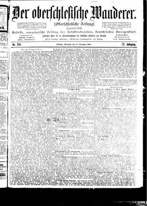 ˜Derœ Oberschlesische Wanderer vom 27.09.1899