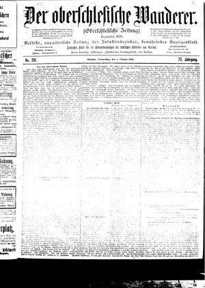 ˜Derœ Oberschlesische Wanderer vom 05.10.1899