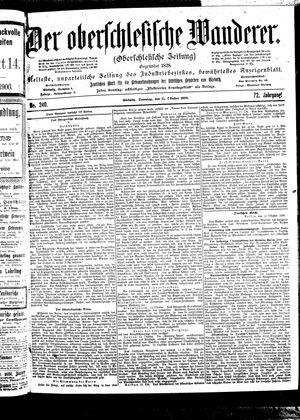 ˜Derœ Oberschlesische Wanderer vom 15.10.1899