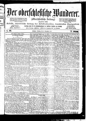 ˜Derœ Oberschlesische Wanderer vom 14.11.1899