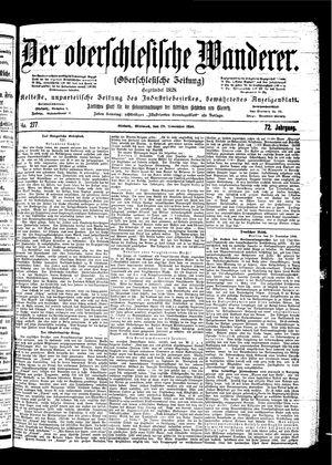 ˜Derœ Oberschlesische Wanderer vom 29.11.1899