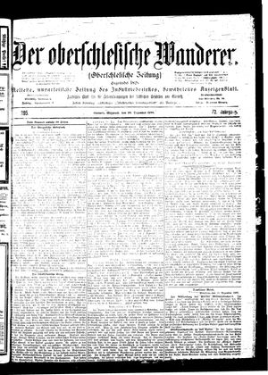 ˜Derœ Oberschlesische Wanderer vom 20.12.1899