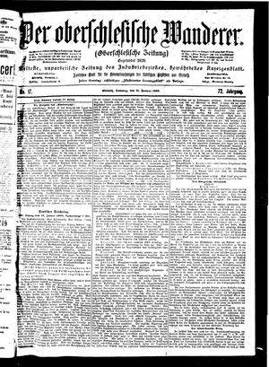˜Derœ Oberschlesische Wanderer vom 21.01.1900