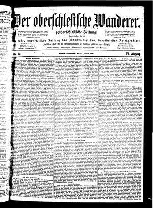 ˜Derœ Oberschlesische Wanderer vom 27.01.1900