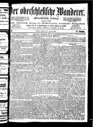 ˜Derœ Oberschlesische Wanderer vom 20.02.1900