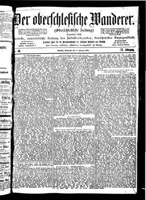 ˜Derœ Oberschlesische Wanderer vom 21.02.1900