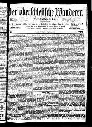 ˜Derœ Oberschlesische Wanderer vom 27.02.1900