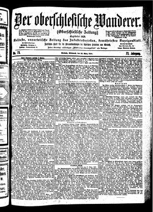 ˜Derœ Oberschlesische Wanderer vom 28.03.1900