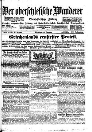 ˜Derœ Oberschlesische Wanderer vom 04.01.1916