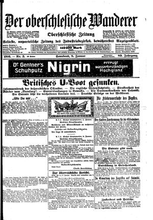 ˜Derœ Oberschlesische Wanderer vom 08.01.1916