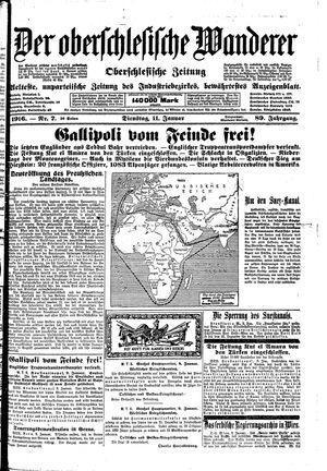 ˜Derœ Oberschlesische Wanderer vom 11.01.1916