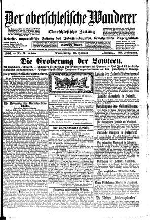˜Derœ Oberschlesische Wanderer vom 13.01.1916