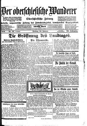 ˜Derœ Oberschlesische Wanderer vom 14.01.1916