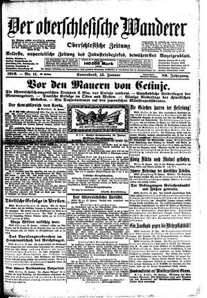 ˜Derœ Oberschlesische Wanderer vom 15.01.1916