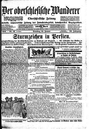 ˜Derœ Oberschlesische Wanderer vom 18.01.1916