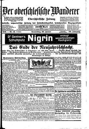 ˜Derœ Oberschlesische Wanderer vom 20.01.1916