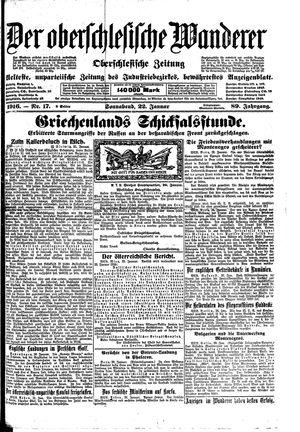 ˜Derœ Oberschlesische Wanderer vom 22.01.1916