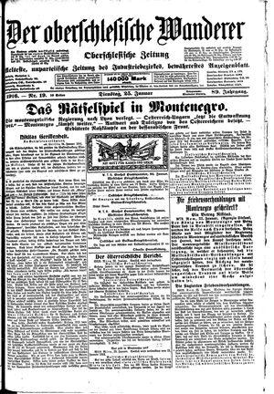 ˜Derœ Oberschlesische Wanderer vom 25.01.1916