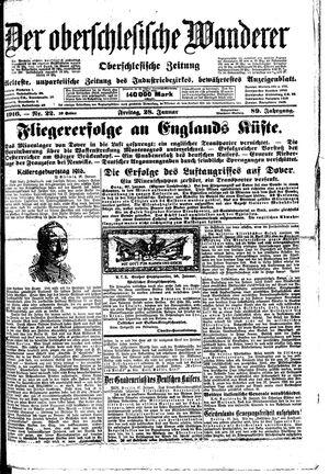 ˜Derœ Oberschlesische Wanderer vom 28.01.1916