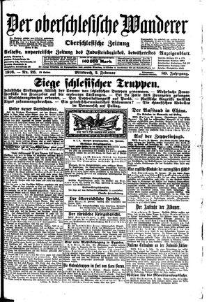 ˜Derœ Oberschlesische Wanderer vom 02.02.1916